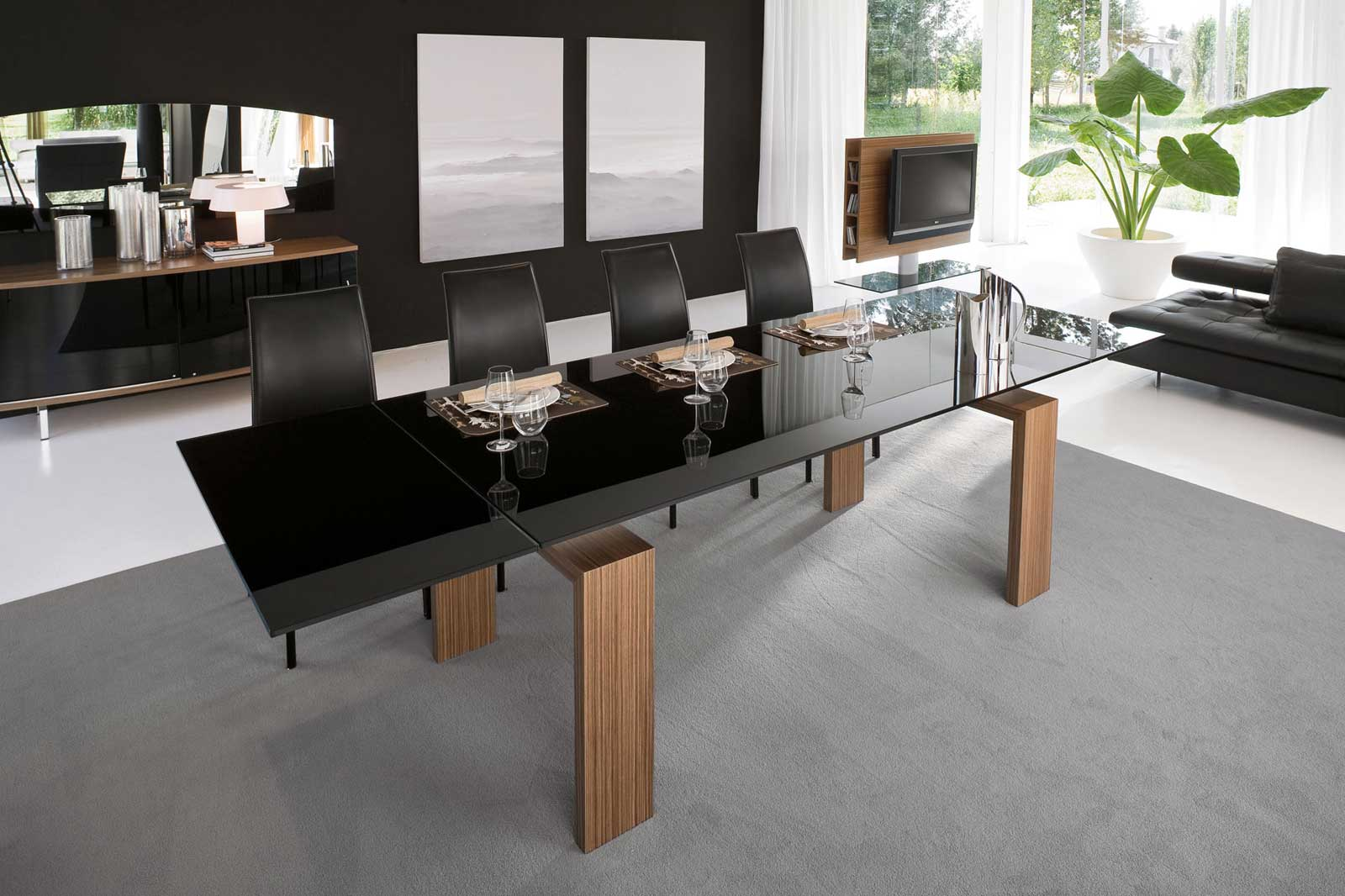 Stylish contemporary dining table ideas showing simple for Modern dining area ideas