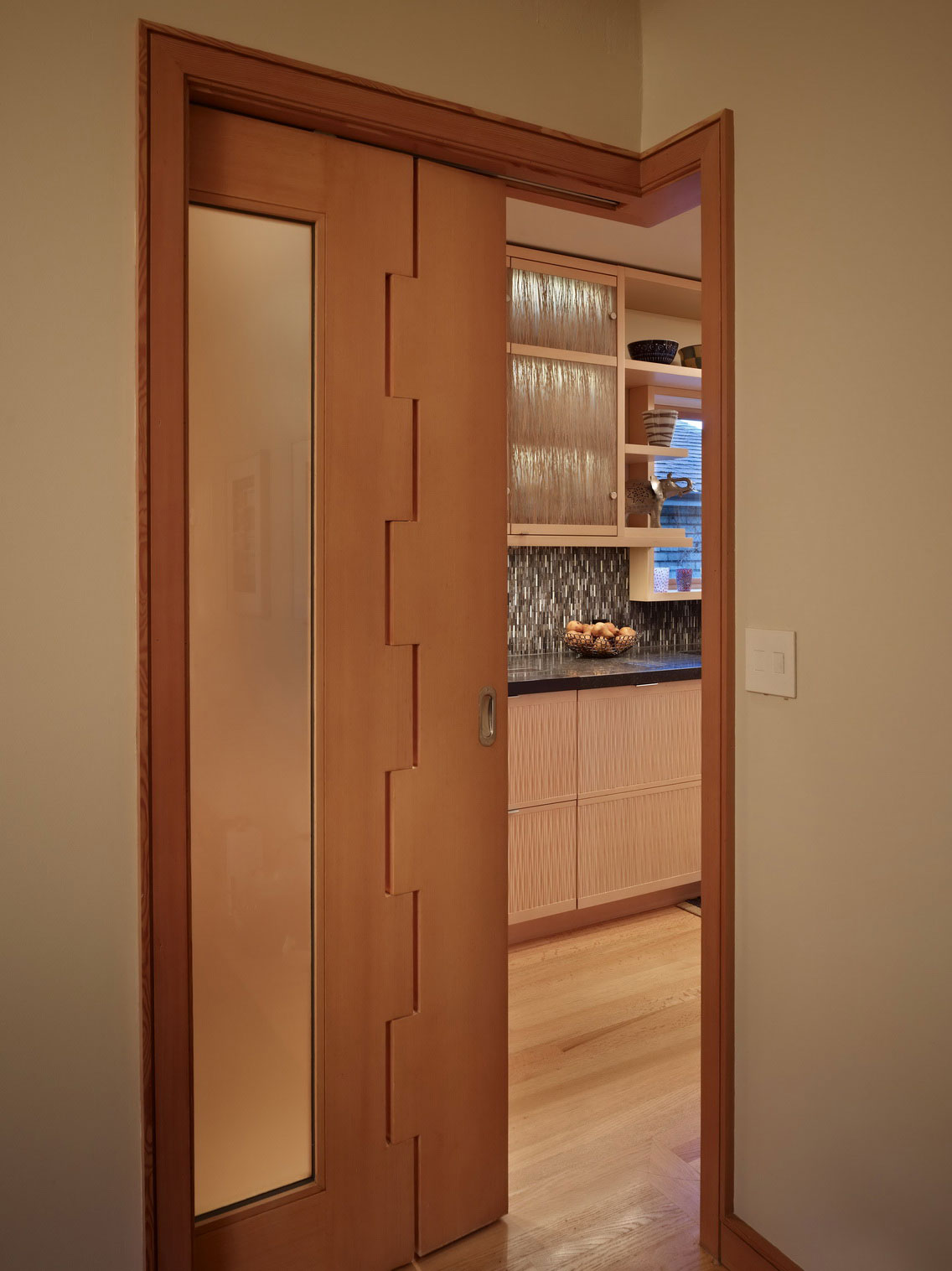 Great modern sliding door designs to enhance your home for Kitchen entrance door designs