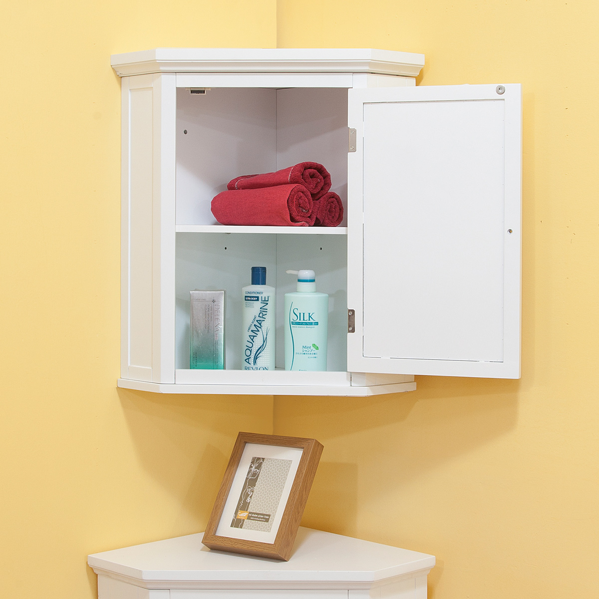 Space efficient corner bathroom cabinet for your small Corner cabinet small bathroom