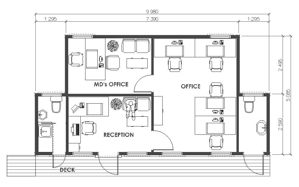 Modern home office floor plans for a comfortable home for Office room layout