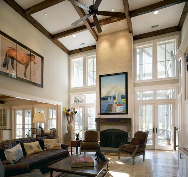 High Living Room Ceiling