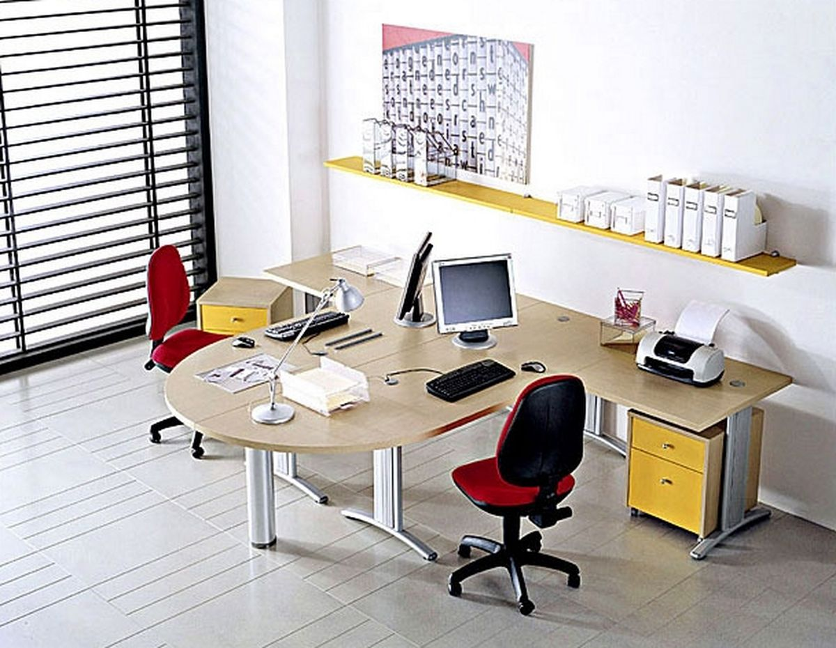 Creative small office furniture ideas as mood booster for Office table ideas