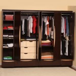Wide Clothes Hangers in Appealing Closet Ideas for Small Bedrooms with Oak Shelves and White Drawers